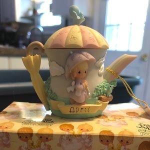 Precious Moments April Teapot